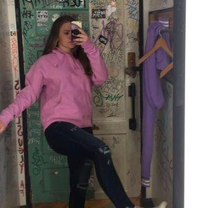 Pinkish purple champion sweatshirt